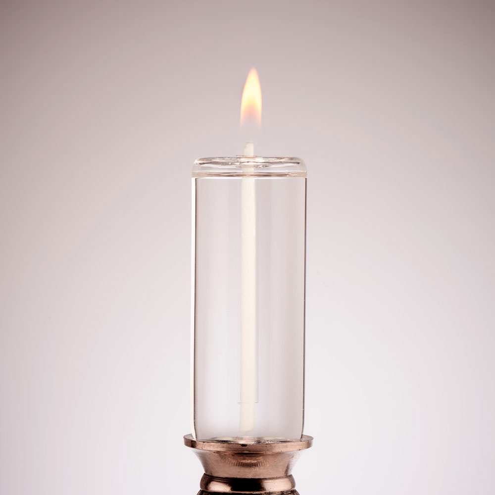 CYLINDRICAL CORKED GLASS CANDLE