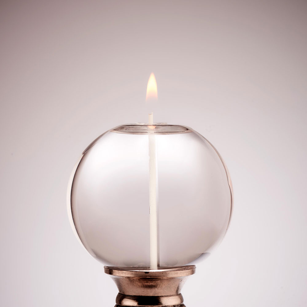 MEDIUM CORKED ROUND GLASS CANDLE