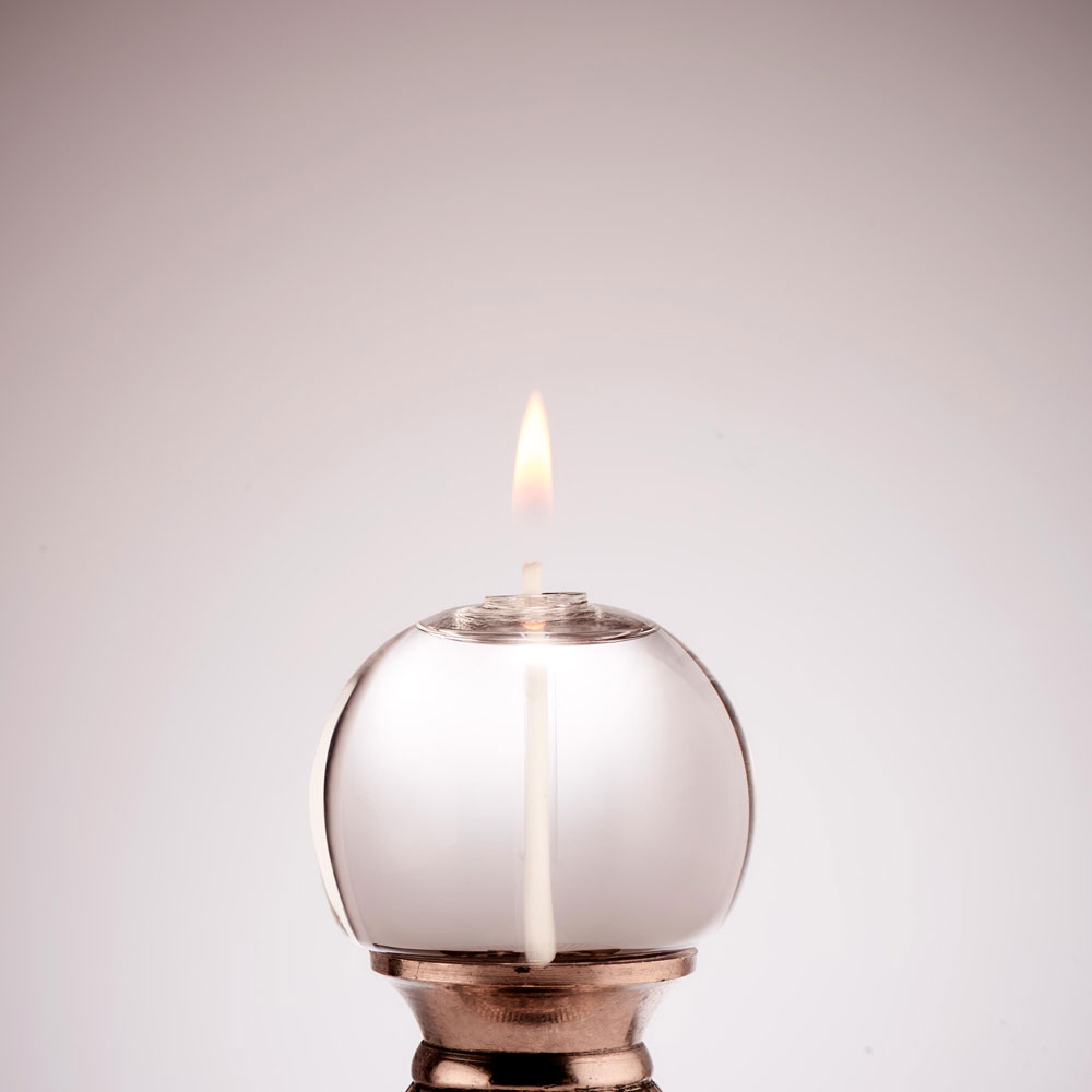 SMALL CORKED ROUND GLASS CANDLE