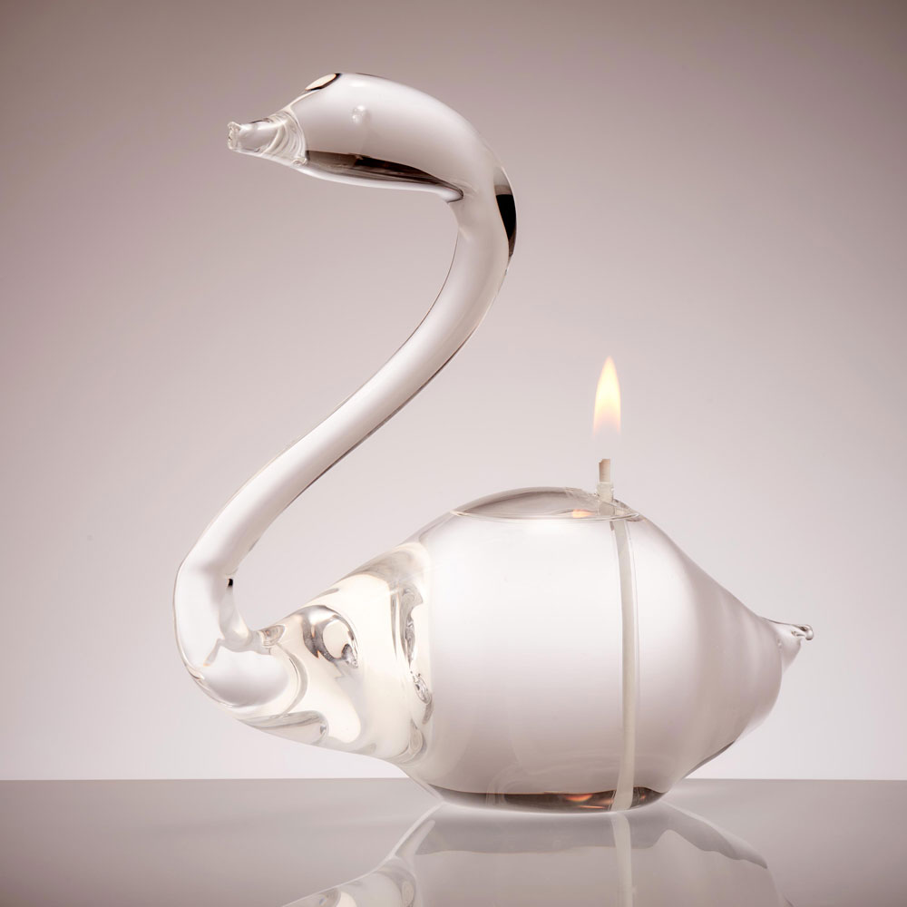 Swan Glass Candle