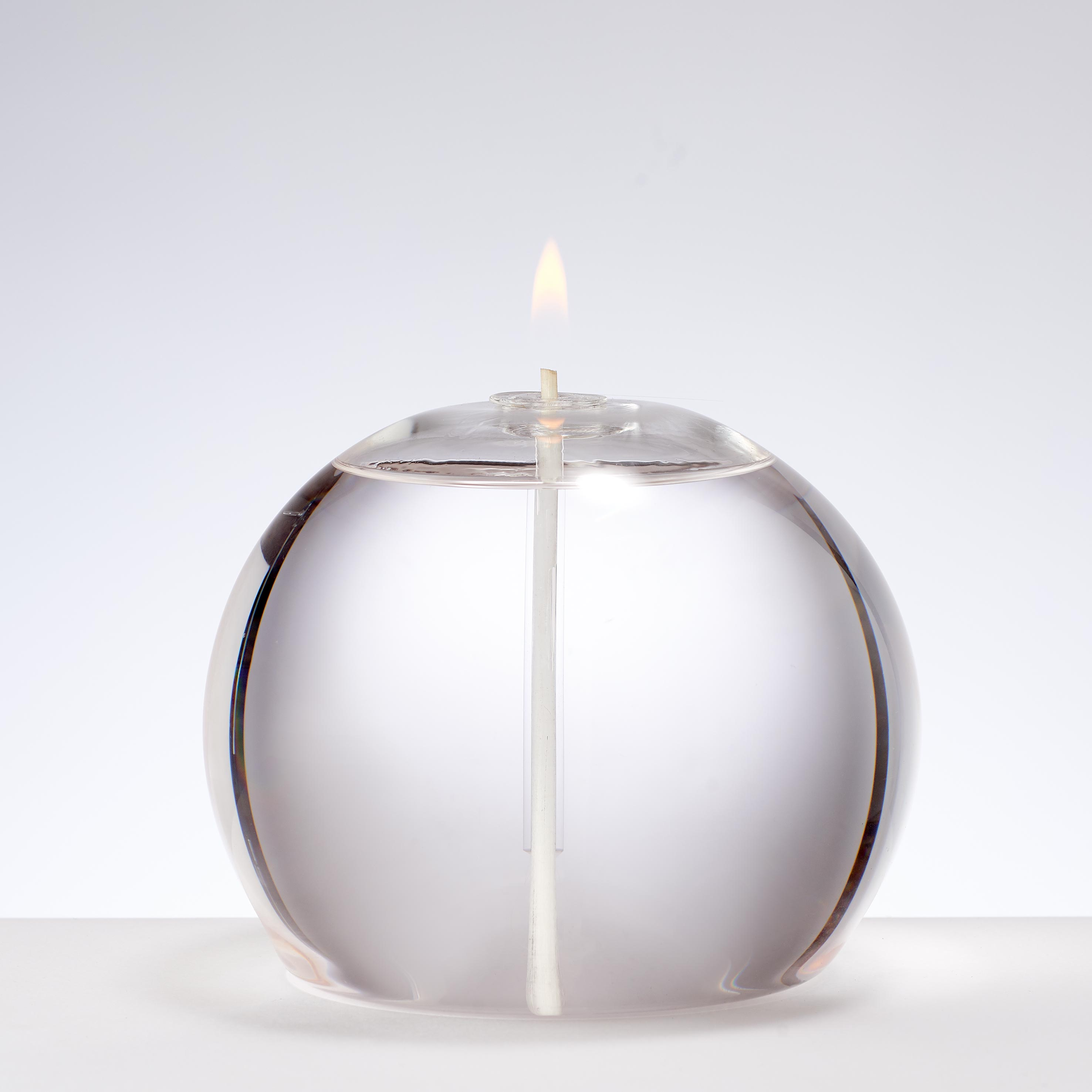 LARGE ROUND GLASS CANDLE