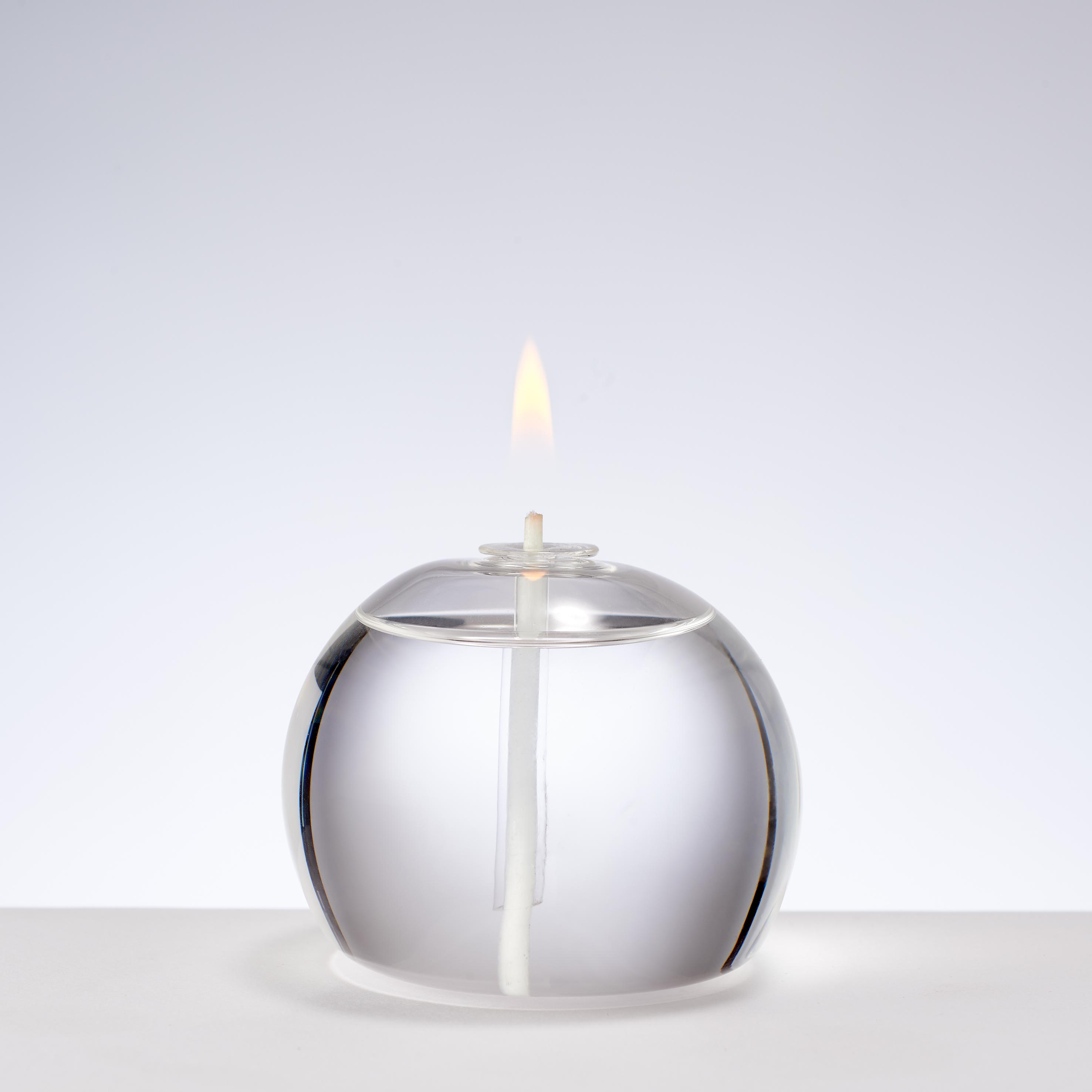 SMALL ROUND GLASS CANDLE